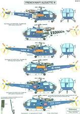 Berna Decals 1/48 AEROSPATIALE ALOUETTE III HELICOPTER IN FRENCH NAVY SERVICE