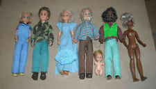 6 ANCIENNES POUPEE BARBIE SUNSHINE FAMILY MATTEL + 1 BEBE 1973