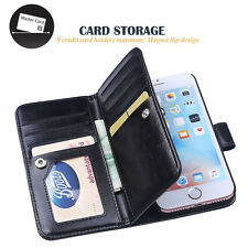 """Luxury Leather 9 Credit Card Slot Holder Flip Wallet Case for iPhone 7 Plus 5.5"""""""