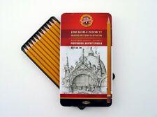 Koh-I-Noor Soft Graphite Artist Sketching Drawing Pencils 12 Tin Set ( 8B to 2H)