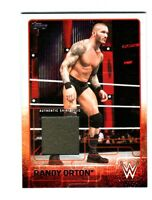WWE Randy Orton 2015 Topps Event Used Shirt Relic Card Grey