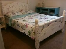 Beautiful Hand Decorated Country Wood Double Bed.  ASK FOR A DELIVERY QUOTE