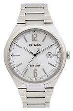 Citizen Round Silver Band Wristwatches