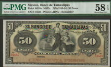 Mexico-Tamaulipas 50 Pesos Banknote(1910-14)Choice About Uncirculated Cat#S432dr