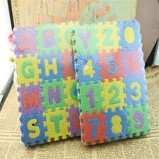 36x Baby Child Kids Stunning Alphabet Number EVA Puzzle Foam Teaching Toy Mats P