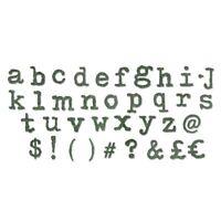 Sizzix Bigz XL Alphabet Die Cutter TYPO LOWER CASE 661176