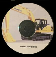 KOMATSU PC210-6K EXCAVATOR SERVICE MANUAL ON CD *FREE POSTAGE*
