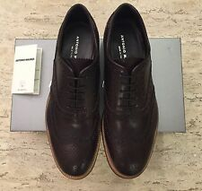 Brand New w Box Antonio Maurizi Lace Up Shoes in Leather Brown for Men Size US 8
