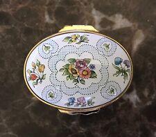 Halcyon Days Floral Enamel Box Mint Condition
