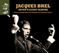 JACQUES BREL - 7 CLASSIC ALBUMS 4 CD NEUF