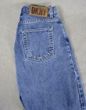 DKNY MOM Jeans Women's Denim Blue Straight Leg High Waist Cotton USA 4 -JJ