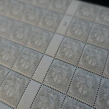FEUILLE SHEET TIMBRE TYPE BLANC N°107 TYPE IB x50 MILLÉSIME 3 NEUF ** LUXE MNH