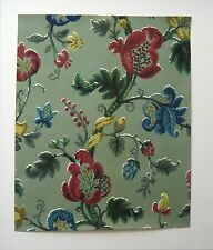 Vinatge Charming 1940's English Exotic Floral Wallpaper (9449)