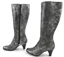 **NEW!** Born Crown 'Bullock' Tall Boots Pewter Metallic Leather Sz US 10 *RARE*