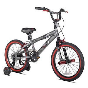 "18"" BMX Bike Boys Bicycle Kids Ride On Toy Single Speed with Training Wheel New"