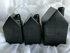 Hearth and Hand MAGNOLIA 3 House BUD VASES black matte 2 sizes new w tags