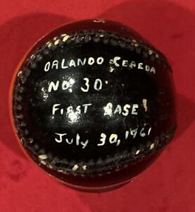 Vintage 1961 Orlando Cepeda San Francisco Giants Painted Game Used Baseball Old