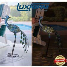 Luxform Solar Powered Peacock Garden Ornament LED Light Animal