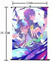 "Hot Japan Anime Ao no Exorcist Rin Yukio Wall Scroll Home Decor Poster 8""×12"" 03"