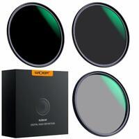 K&F Concept 37/40.5/43/46/49/52mm Lens Filter Kit Neutral Density ND8 ND64 CPL