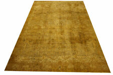 Rug Vintage Overdyed 385x240 CM 100% Wool Used Look Gold