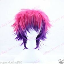 Boys' Cos Wigs Pink Purple Ombre Hair Pre Styled Full Wig Heat Resistant Cosplay