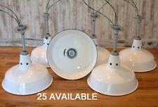 """1 Silva-King 14"""" Porcelain White Barn Industrial Ventilated Light Enamel Vtg B's"""