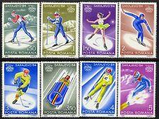 1984 Sarajevo Olympics,Ice hockey,Biathlon,Bobsled,Luge,Ski,Romania,Mi.4003,MNH
