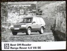 RANGE Rover 4.0 V8 se premere Fotografia BLACK & WHITE c1995 Off-Roader migliore