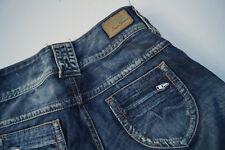 PEPE Jeans MIDONNA Pantalon Femmes Hanche 25/34 w25 l34 Bleu Darkblue Stone Washed NEUF