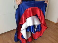 CAN CAN ROCK MAßGESCHNEIDERT TANZROCK FLAMENCO BLAU KARNEVAL FASCHING NEU Skirt