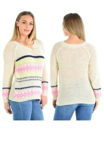 Womens Ladies - Cream Open Knit Jumper Comfortable Warm - ex High Street