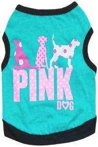 Boy Yorkie Puppy Pet Dog Tank Top T-shirt Clothes Mini Schnauzer Summer Apparel