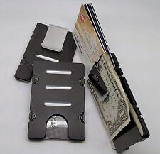 BilletVault Wallet/Credit Card Holder, Alum. RFID protection, black front pocket