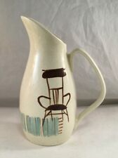 VINTAGE RED WING POTTERY CREAM PITCHER CHAIR CANDLE DECORATION BOB WHITE STYLE