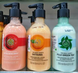 The Body Shop Body Lotion | Strawberry | Satsuma | Fuji Green Tea | 250 ML