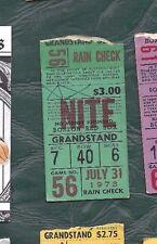 1973 7/31 baseball ticket New York Yankees Boston Red Sox, Carlton Fisk HR #43