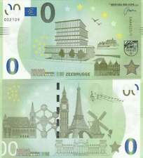 Biljet billet zero 0 Euro Memo - Zeebrugge (029)