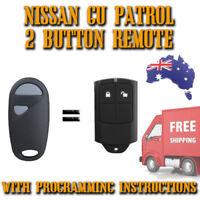 Nissan Patrol GU- 2 Button Remote Brand New + Programming Instructions -Inc Post