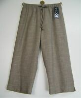 SALOOS LINEN LOOK CROPPED  TROUSERS  IN 7 COLOURS BNWT SIZES 12 14 16 18 20 22