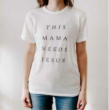 Christian Jesus T-Shirt Scripture Faith Tee 100% Cotton Size XL Colour White