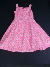 Lilly Pulitzer Girls SZ 8 Dress Fluorescent Pink Everything Nice Freja Open Back