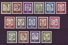 Berlin 1961 postfrisch Freimarken Bedeutende Deutsche MiNr. 199-213
