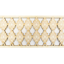 Picture Rail Decorative Trim Moulding, Moroccan Beading Wooden Timber Dado Rail