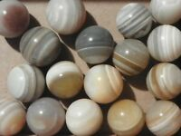 Agate Marbles Banded Bulls Eye Two Of 7/8 To One Inch Vintage Natural Gemstones