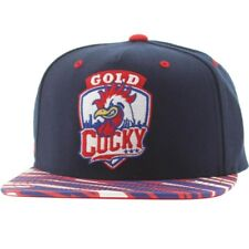 Gold Cocky Snapback Cap (blue / red)