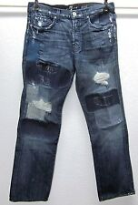 7 For All Mankind JARED Men's Limited Edition WOW 32x30 Blue Jeans #135/777 EUC