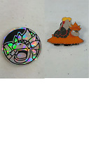 PIN + COIN COMBO- Mega M Camerupt Pokemon Promo Counter -NM -NEW- Flip XY198 Box