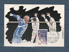 carte 1er jour  championnat du monde de volley ball 75 Paris  1986