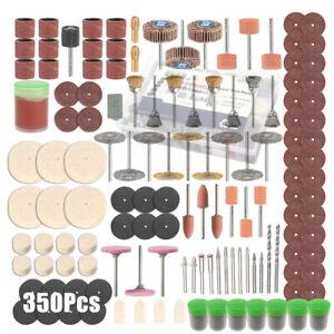 350Pcs Rotary Drill Multi Accessories Mini Grinder Tool Bit Polishing Kit Dremel